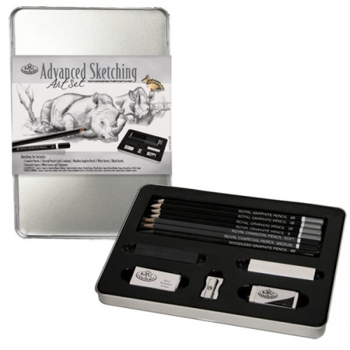 Royal Langnickel ADVANCED SKETCHING TIN SET – SET NO. 2302