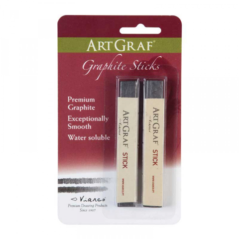 ARTGRAF WATERCOLOUR GRAPHITE SOFT STICK twin pack