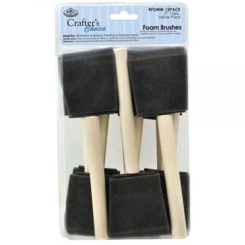 Foam brush set of 12 royal langnickel