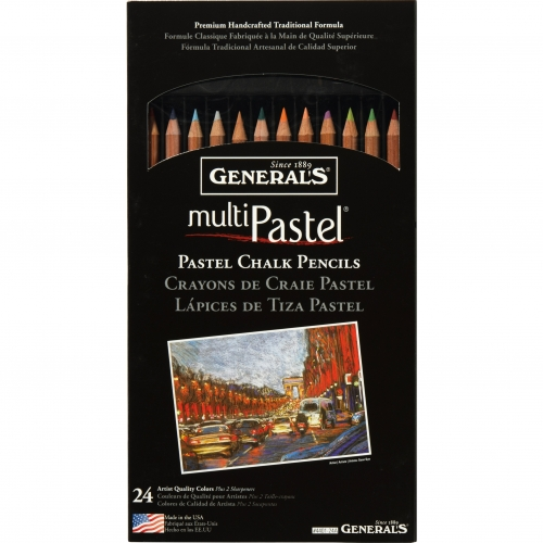 GENERALS PASTEL CHALK PENCIL KITS 24