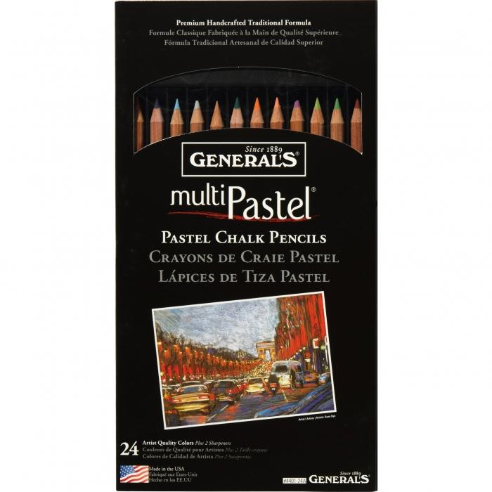 GENERALS PASTEL CHALK PENCIL KITS 24