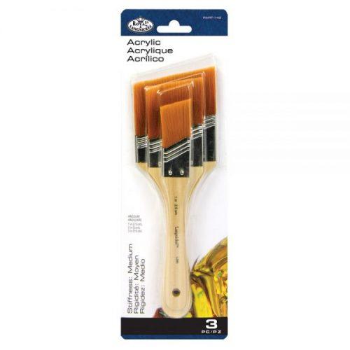 Large are brush set 3 golden taklon angular royal langnickel