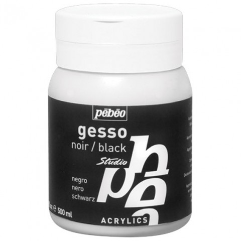 PÉBÉO STUDIO COLOURED GESSO PRIMER 500ML JAR – BLACK TINT