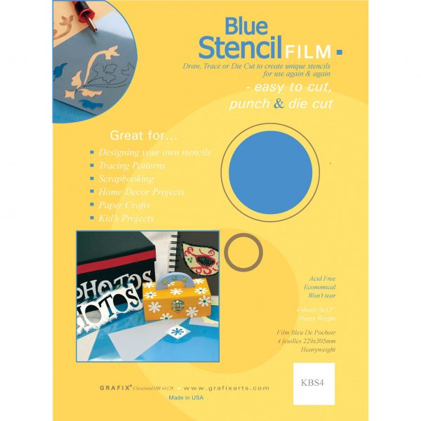 Blue stencil film 12 x 15 inch pack of 10 sheets